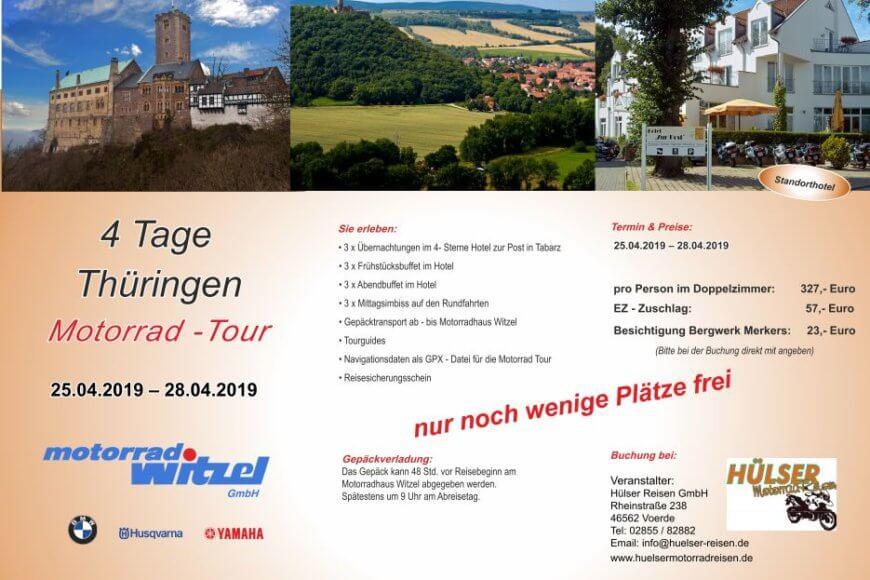 25.04.-28.04.2019 – Thüringen Motorradreise
