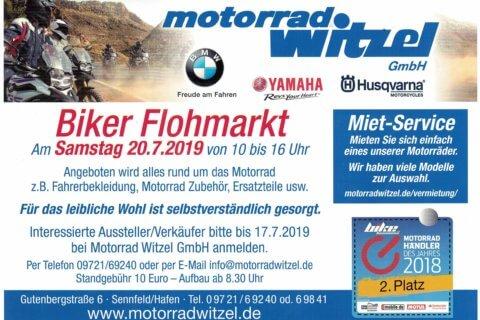 Biker-Flohmarkt bei Motorrad Witzel am 20.07.2019