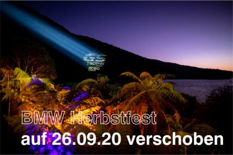 BMW Herbstfest auf 26.09. verschoben