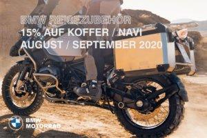 BMW Reisezubehör mit 15% Nachlass im August/September 2020 (verlängert bis Oktober)